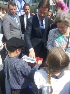 Met premier Mark Rutte en voormalig Ierse president Mary Robinson